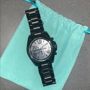 Michael Kors Accessories - MICHAEL KORS Oversized Bradshaw Black-Tone Watch